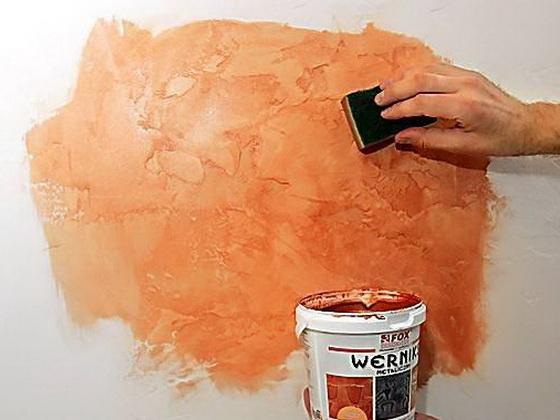 Эффкект старых стен краска мастер класс как сделать #5