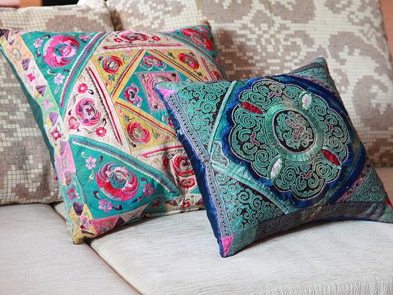 Декоративные подушки своими руками в восточном стиле 32