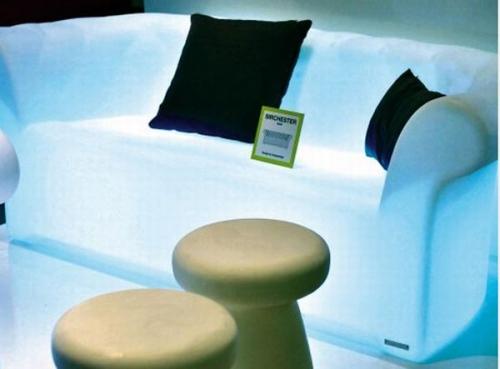 диван,свет,подсветка,белый диван,мебель