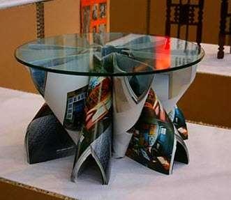 журнал,альбом,газета,поделки,стол,сделай сам,журнальный столик