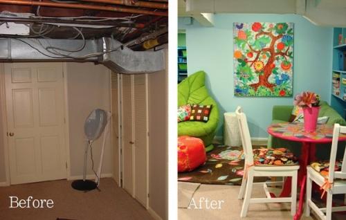 до и после,подвал,полки,детская комната,шкаф, стеллаж,комната
