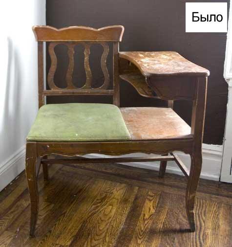 прихожая,сутл стол,стул,стол,до и после,сделай сам