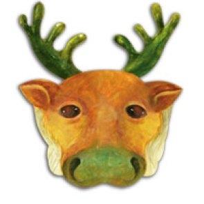 дед мороз,мешок, новый год, сделать,скачать,поп ап,маска,бумажная маска деда оленя