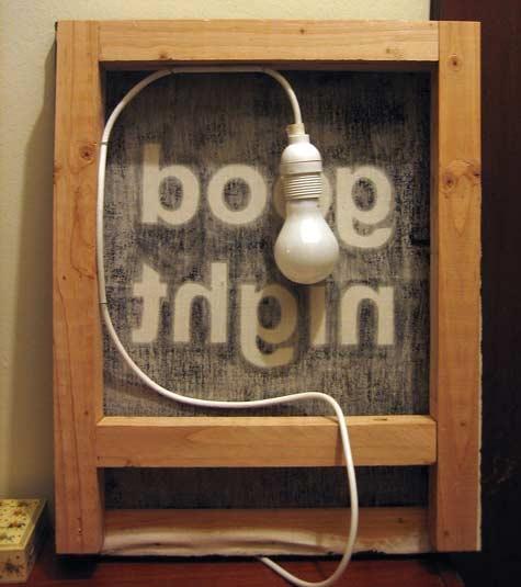 ночник,good nightm, лампа,сделай сам,экран