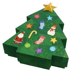 дед мороз,мешок, новый год, ёлка из бумаги,сделать,скачать,поп ап