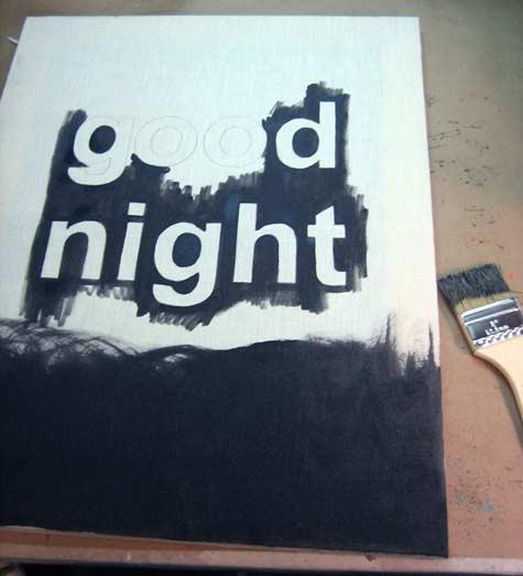 ночник,good nightm, лампа,сделай сам,экран,кисть краска,лампочка