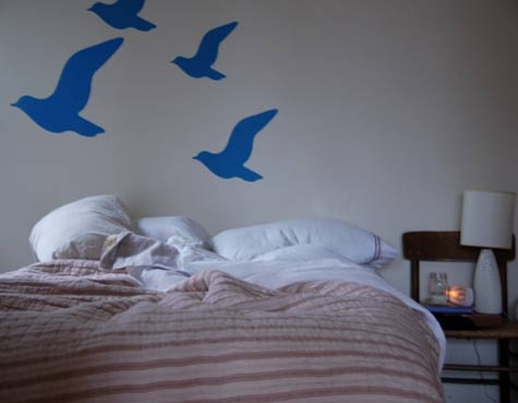 квартира,фото,дизайн,спальня,птицы,картинка