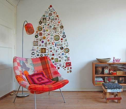 новый год,украшения,поделки,картон,ветки,елка,сделать ёлку