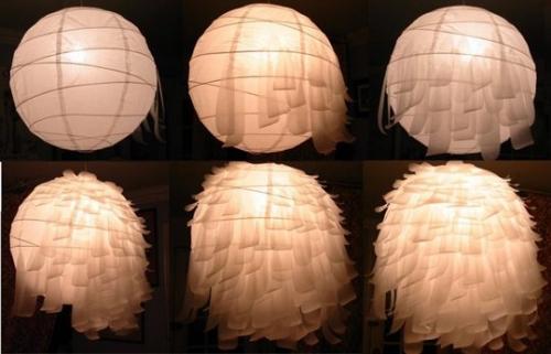 лампа,люстра,сделать люстру,как сделать люстру,делаем лампу,лампа страус,поделки,икея