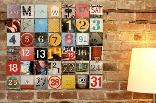 календарь,сделать календарь,идея,новый год