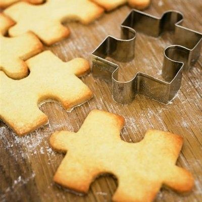 пазл,выпечка,печенье,форма для выпечки