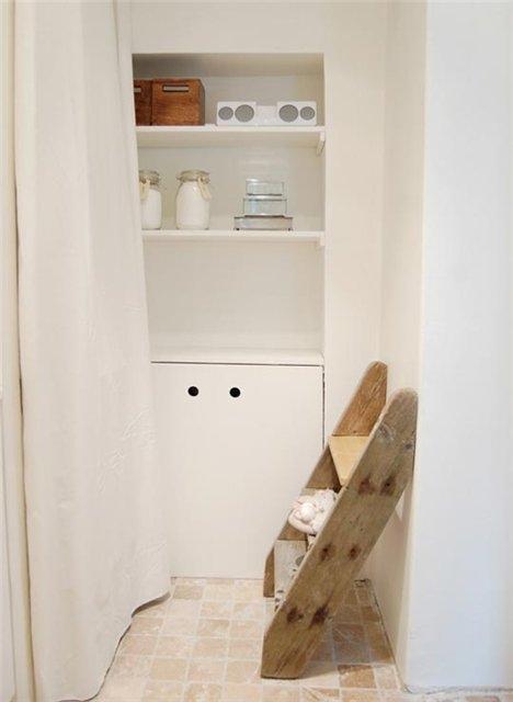 душ,ванная,комната, лестница,декор,полки,банки