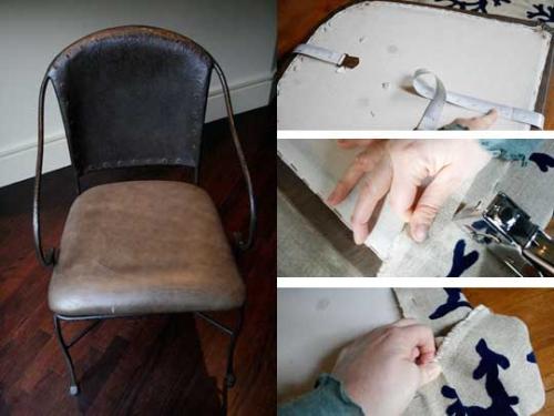 сделай сам,поделки,обивка стула,до и после,ремонт мебели,кресло