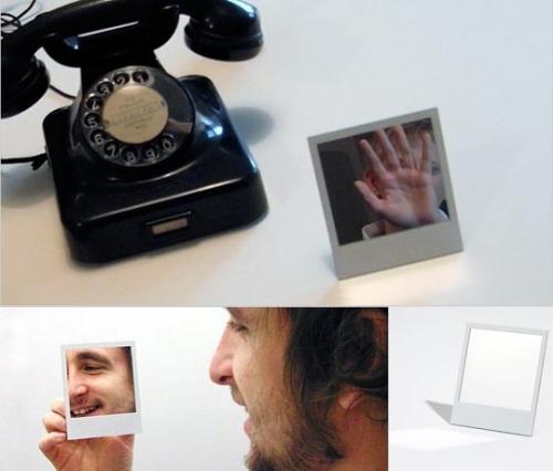 телефон,борода,поларойд,зеркало,рамка