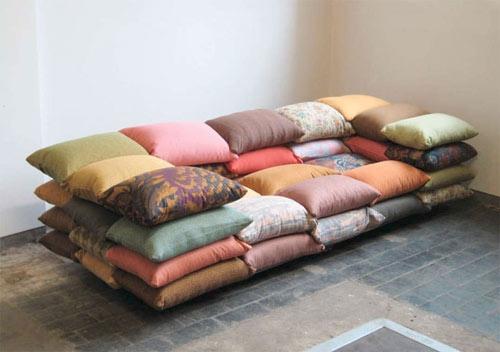 подушки,одеяла,кровать,дизайн,лень,диван