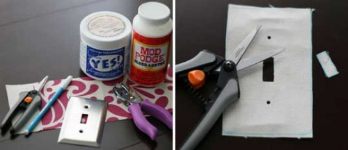 выключатель,включатель,ткань,сделай сам,ножницы,клей,поделки