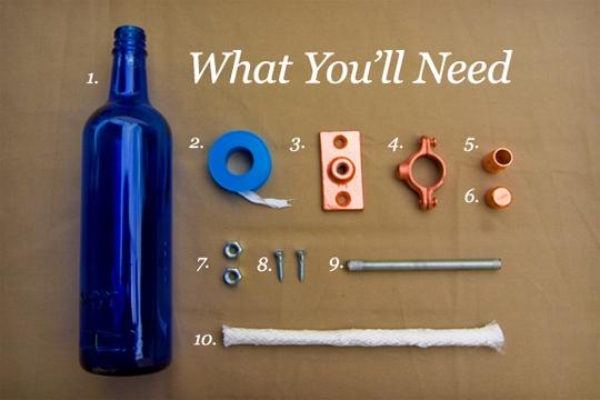 бутылка,факел,лампа,вино,керасинка,фитиль,болты