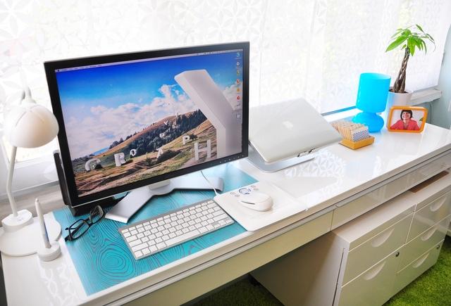 домашний офис,трава,mac