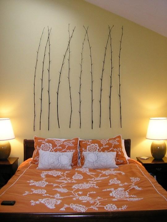 место над кроватью, идея,поделка,декор,дизайн,сделай сам,украсить дом,ветки,ветви,дерево,хворост