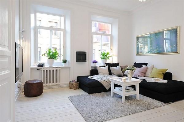 квартира,фото,белая,большие окна,свет