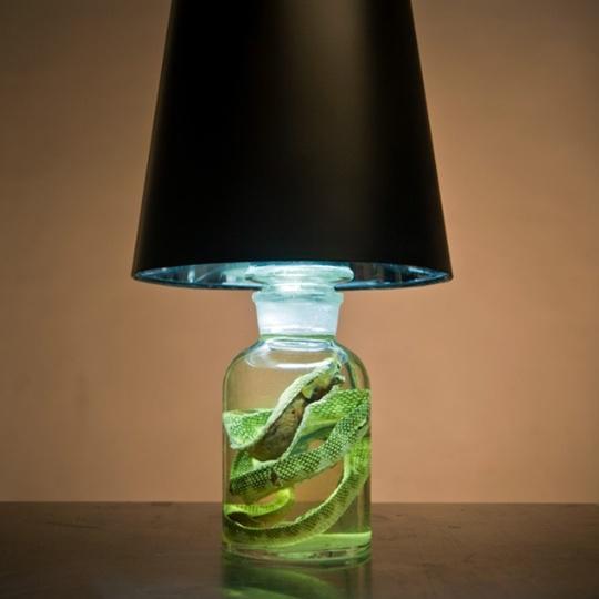 змея,лампа