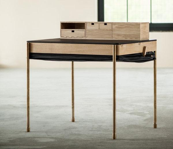 стол,гармошка,арт деко,кожа,дерево,гармошка,письменный стол