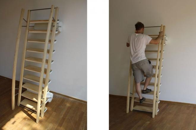 кушетка,кровать,минимализм,качалка,лестница