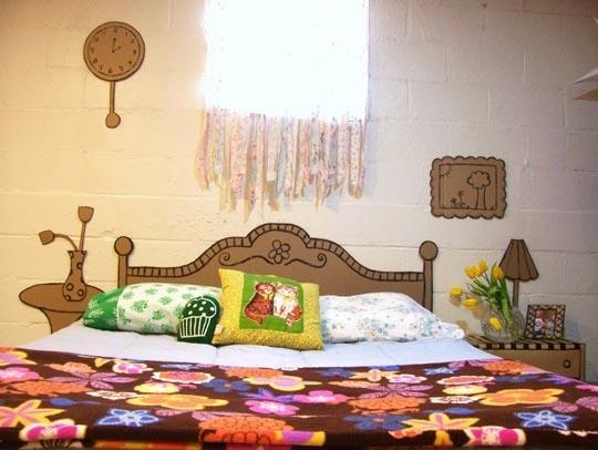 кровать,картон,поделка