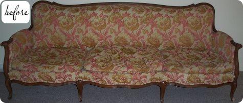 диван,старый диван,сделай сам,обивка,до и после