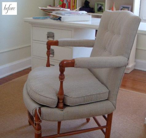 кресло,до и после,сделай сам,обивка