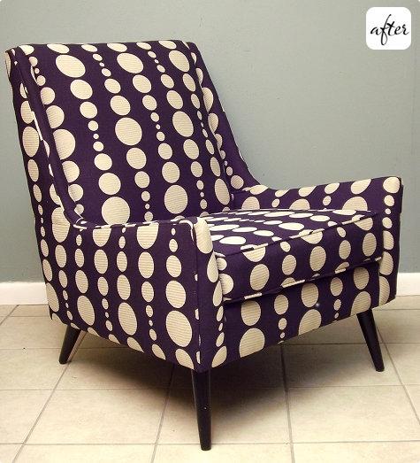 старое кресло,обивка,до и после,сделай сам