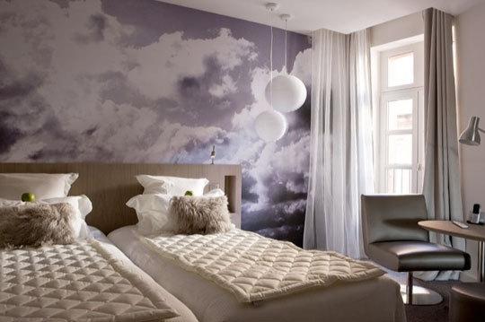 дизайн,идея,краска,ремонт,спальня,стены,фотообои