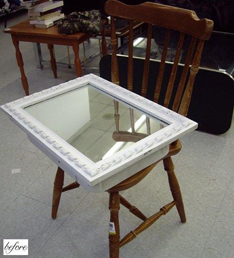 до и после,зеркало,поделки,сделай сам,сделать,стол,столик,стул