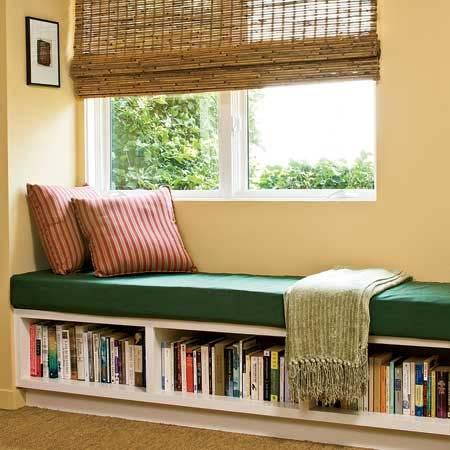 идея,книги,кровать,окно,подоконник,чтение