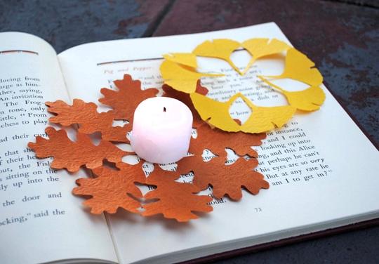 киригами,листья