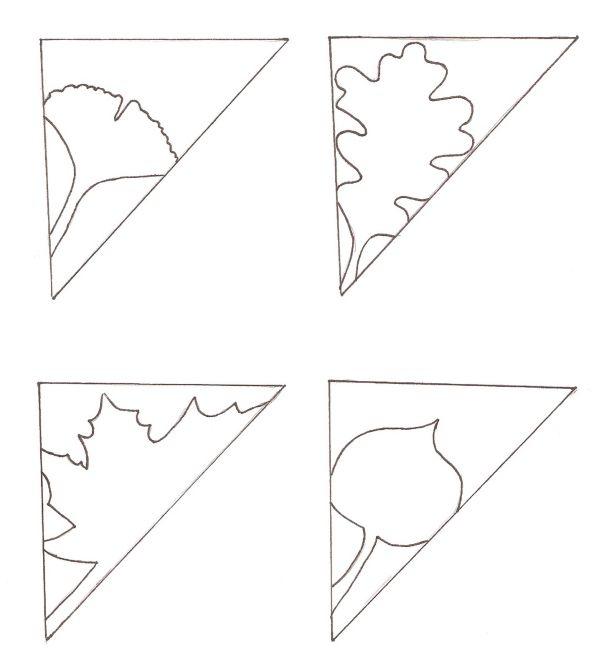 киригами,листья,инструкция