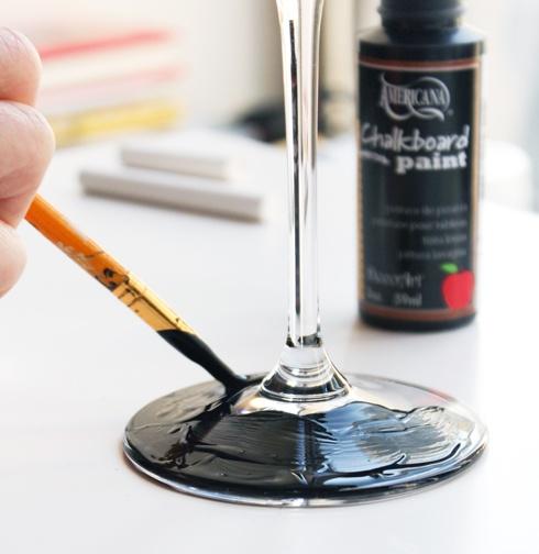 краска,для доски,бокалы,фужеры,сделай сам,поделки,идеи