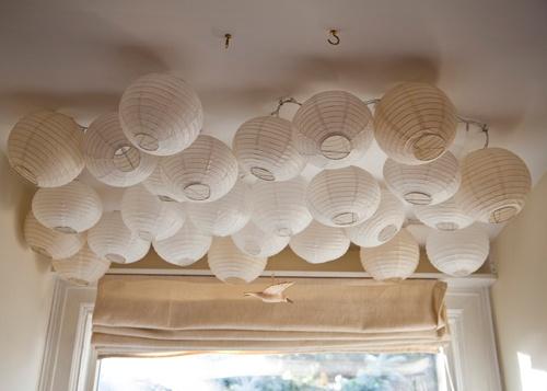 потолок,фонарики,установка