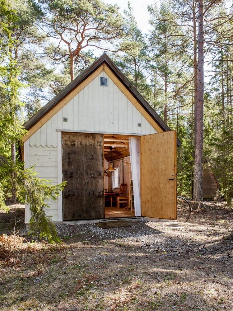дом,лес,Швеция,летний дом,рабочие место,дизайн,дерево