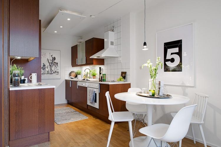 гостиная,кухня,белая квартира,интерьер, Швеция,скандинавский дизайн