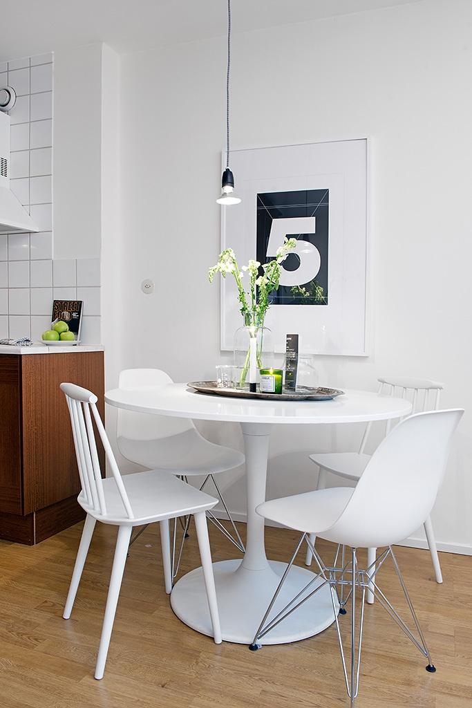 5,гостиная,кухня,белая квартира,интерьер, Швеция,скандинавский дизайн