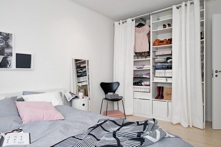 спальня,белая спальня,шкаф,Швеция,скандинавский дизайн