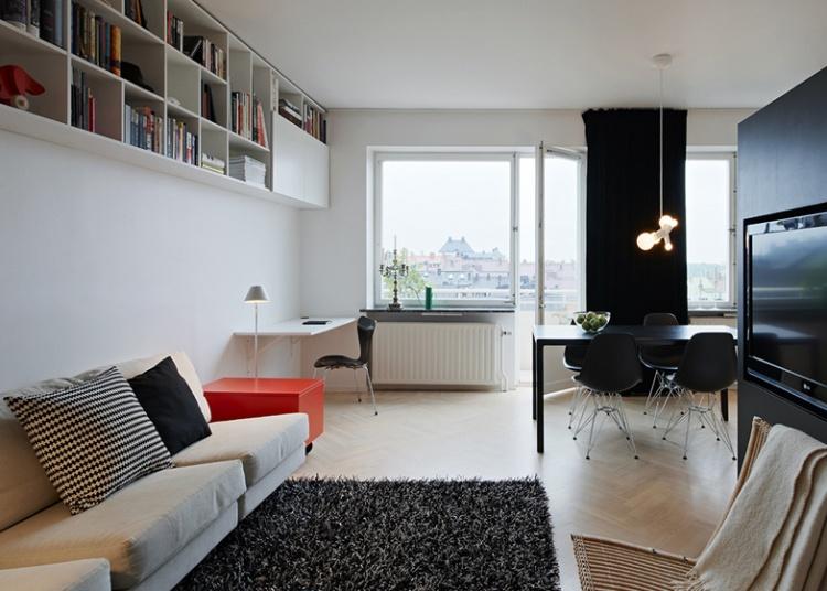 квартира студя,фото, Швеция, не большая квартира, Стокгольм