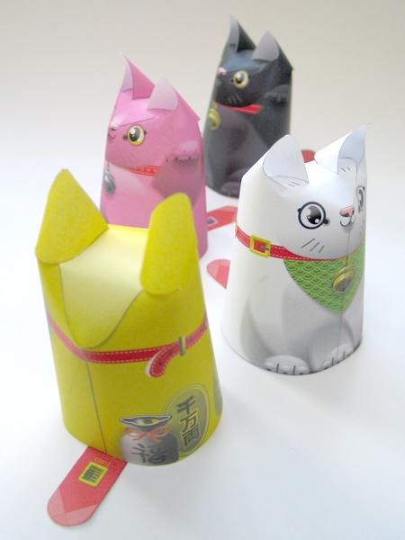 кот,кошка,3д модель,скачать,бумага,сделай сам