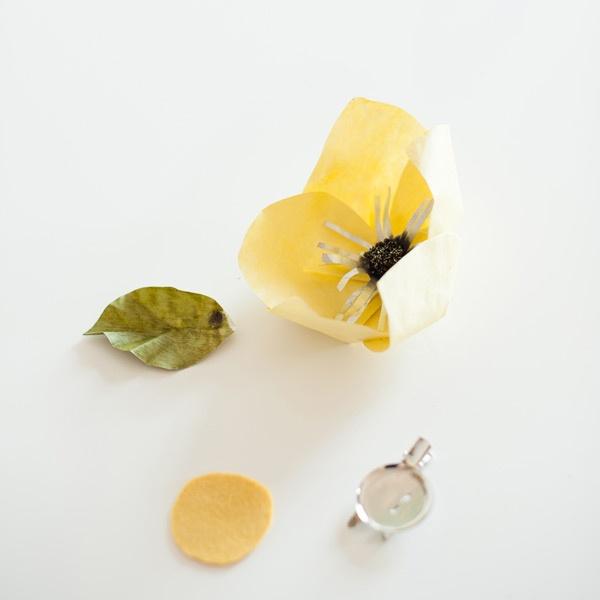 цветы,поделка.бумага, брошка,войлок