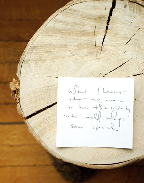 пень,дерево,записка
