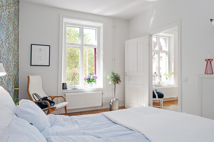 квартира,белый цвет,дизайн,фото,3х комнатная,белый интерьер,спальня