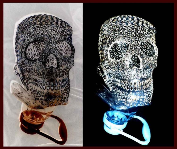 череп,поделки,из бутылки,своими руками,как сделать череп
