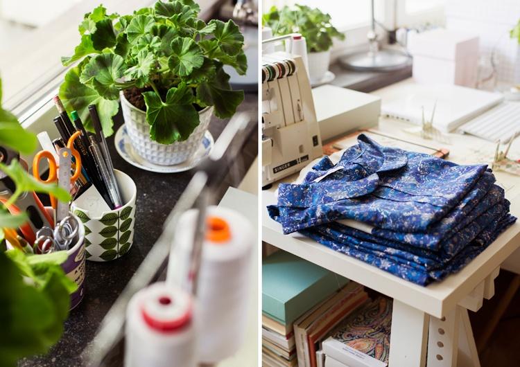 рабочая зона,ткань,стул,стол,цветы
