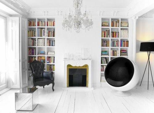 черный,белый,квартира,интерье